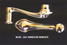 window winder in stainless steel polished