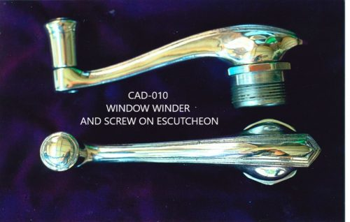 Window winder and screw on escutcheon for 1929-1930 Cadillac Model 353